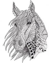 free coloring pages horses u2026 davlin publishing adultcoloring