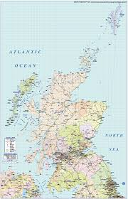 Map Scotland Scotland Regions Road And Rail Map 1m Scale In Illustrator And