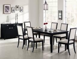 home design black wood dining room table black dining room