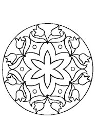 mandala simple flower ornament coloring native