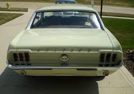 1968 mustang rear end seafoam green 1968 ford mustang hardtop mustangattitude com mobile