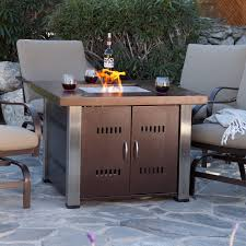 uniflame slate mosaic propane fire pit table with free cover