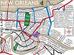 New Orleans Street Map by New Orleans Mardi Gras Neighborhood Culture Map U2013 Urbane Map Store