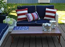 Outdoor Wood Sectional Furniture Plans by Ana White Flag Inspired Outdoor Wood Coffee Table Diy Projects