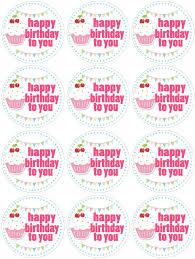 cupcake themed birthday party with free printables water bottle