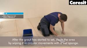 Regrouting Floor Tiles Tips by Application Of Large Format Tiles Grouting Youtube