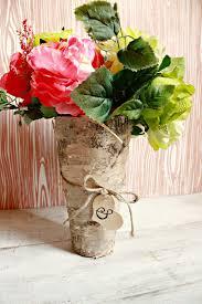 Simple Vase Centerpieces How To Bride Diy Birch Wood Vase Centerpiece