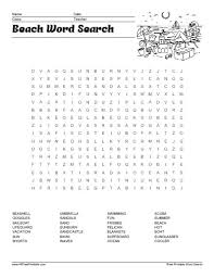 printable word search beach word search free printable allfreeprintable com