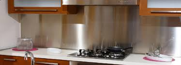 Affordable Stainless Backsplashes In Customcut Shapes  Sizes - Custom stainless steel backsplash