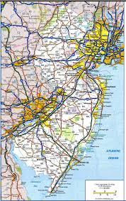map of nj new jersey