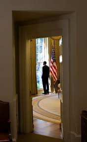 Barack Obama Oval Office Free Public Domain Image President Barack Obama Looking Out A