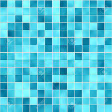 small tiles texture in different shades of blue stock photo