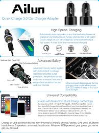 Car Charger With Usb Ports Amazon Com Fast Car Charger Quick Charge 3 0 Adapter Dual Usb