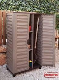 Horizontal Storage Cabinet Outdoor Storage Cabinet Garden Utility Plastic Horizontal Shed
