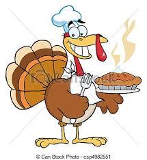 happy turkey chef happy thanksgiving turkey bird holding a