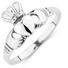 clatter ring claddagh ring in sterling silver