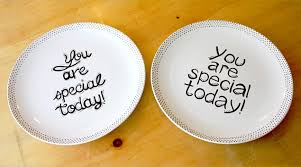 you are special plates celebrate make your own simple you are special plate one