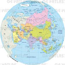 7 Continents Map Download Globe Map Of Asia Major Tourist Attractions Maps
