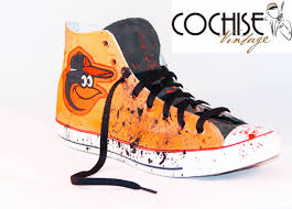 baltimore orioles custom airbrush converse splash chuck taylor