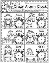 draw the time to the half hour telling time worksheets for first