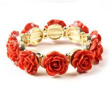 rose bangle bracelet images Rose stretch bracelet shop amrita singh jewelry
