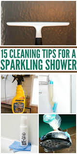 15 cleaning tips for a sparkling shower