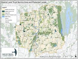 Western Massachusetts Map by The Kestrel Land Trust Mission Kestrel Land Trust