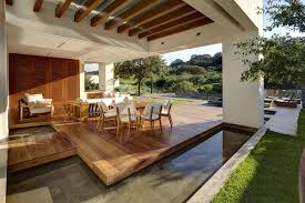 water feature outdoor dining modern family home in zapopan mexico