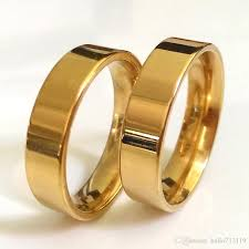 couples rings gold images 6mm gold 316l stainless steel rings smooth simple wedding couples jpg