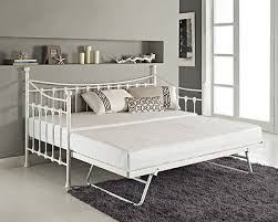Black Daybed With Trundle Versailles French Day Bed And Trundle Black White Metal Frame With