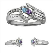 ring with children s birthstones stackable birthstone rings for each child white gold bands