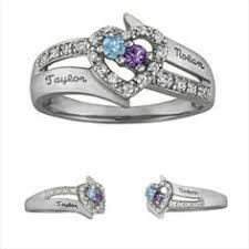 children s birthstone rings for mothers stackable birthstone rings for each child white gold bands