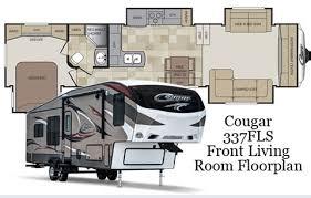 5th Wheel Camper Floor Plans Keystone Community Blog Cougar 337fls Front Living Room