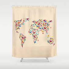 Science Shower Curtains Society6 Best Dinosaur Shower Curtain Products On Wanelo
