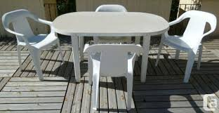 white plastic patio table plastic patio tables and chairs