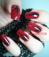 halloween nail design dark red nails youtube