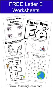 letter e free alphabet worksheets for kids roaming rosie