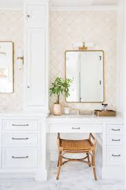 Vanity Bathroom Stool by I Love The Subtle Pattern On The Wallpaper To Add Some Texture To