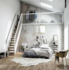chambre deco chambre déco scandinave dans un loft