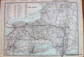 Map New York State New York State Railroad Map Sold Antique Maps And Charts