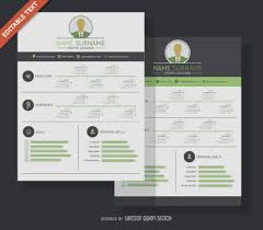 Resume Vector Flat Design Resume Resume For Your Job Application