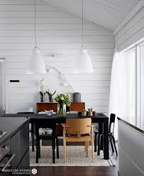 minimalist white ball pendant lamp scandinavian dining room