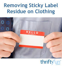 remove clothes removing sticky label residue on clothing thriftyfun