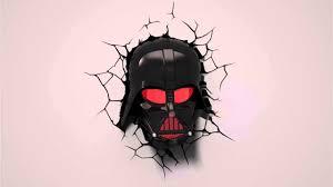 star wars 3d wall light darth vader mask youtube star wars 3d wall light darth vader mask
