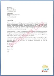 scholarship cover letter exle 28 images 10 application letter