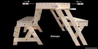 fabriquer une table pliante j u0027ai construit un banc transformable en table de pique nique pour