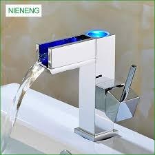 bathroom faucet with led light aliexpress com buy nieneng led faucet bathroom faucet bath sink