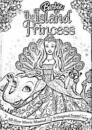 barbie island princess pages coloring
