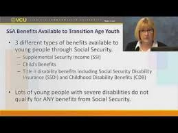 applying for social security disability benefits for transition