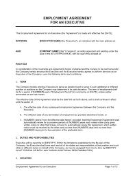 employment agreement executive template u0026 sample form biztree com